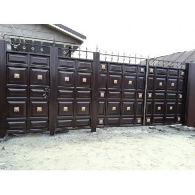 Купить Филенчатые ворота в интернет магазине BESTMET.RU