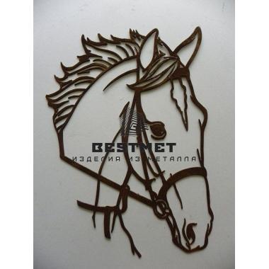 Панно Лошадь из металла